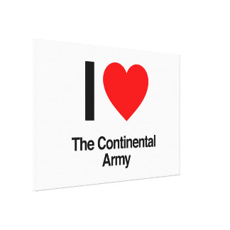 i love the continental army canvas print
