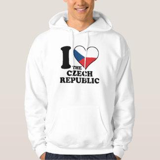 I Love the Czech Republic Czech Flag Heart Hoodie