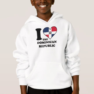 I Love the Dominican Republic Dominican Flag Heart