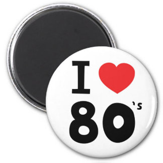 I love the eighties magnets