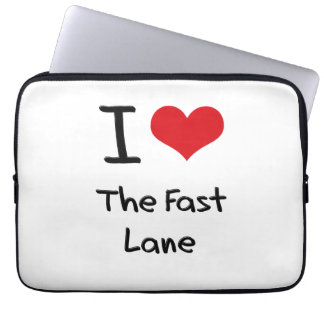 I Love The Fast Lane Computer Sleeve