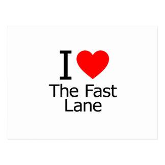 I Love the Fast Lane Postcard