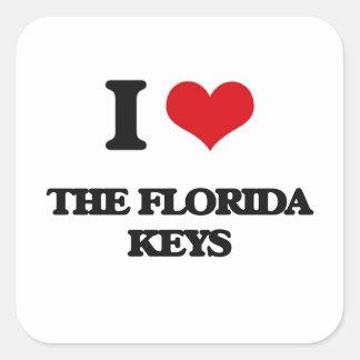 I love The Florida Keys Square Sticker
