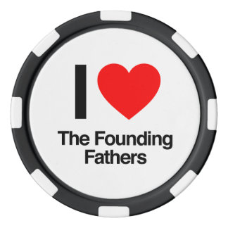 i love the founding fathers poker chip set