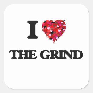 I love The Grind Square Sticker