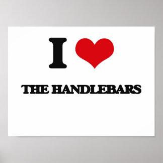 I Love The Handlebars Poster
