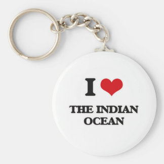 I Love The Indian Ocean Key Ring