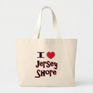 I love the jersey shore red jumbo tote bag