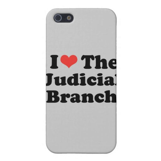 I LOVE THE JUDICIAL BRANCH - .png iPhone 5 Cases