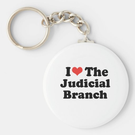 I LOVE THE JUDICIAL BRANCH - .png Key Chains