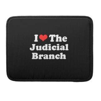 I LOVE THE JUDICIAL BRANCH.png MacBook Pro Sleeves