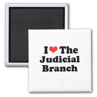 I LOVE THE JUDICIAL BRANCH - .png Square Magnet