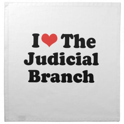 I LOVE THE JUDICIAL BRANCH - .png Printed Napkins