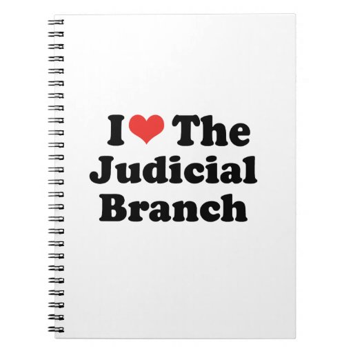 I LOVE THE JUDICIAL BRANCH - .png Spiral Note Books