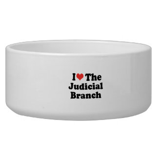 I LOVE THE JUDICIAL BRANCH - .png Dog Water Bowls