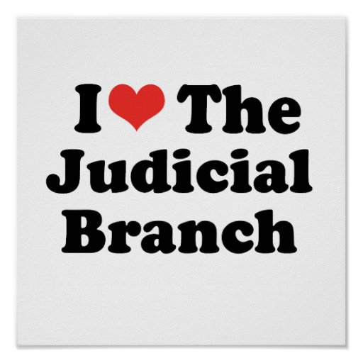 I LOVE THE JUDICIAL BRANCH - .png Print