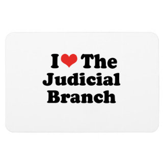 I LOVE THE JUDICIAL BRANCH - png Flexible Magnet