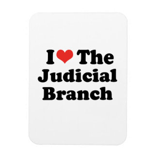 I LOVE THE JUDICIAL BRANCH - .png Vinyl Magnet