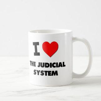 I Love The Judicial System Basic White Mug