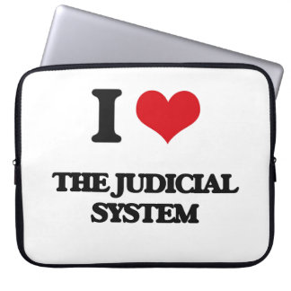 I Love The Judicial System Laptop Computer Sleeves