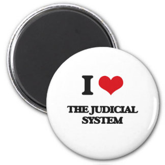 I Love The Judicial System 2 Inch Round Magnet