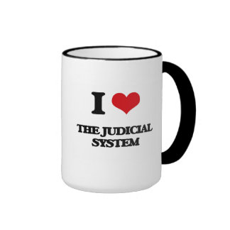 I Love The Judicial System Ringer Mug