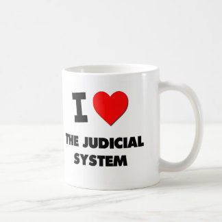 I Love The Judicial System Basic White Mug