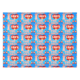 I Love The Lord! Tiled Image Tablecloth