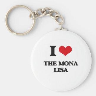 I Love The Mona Lisa Key Ring
