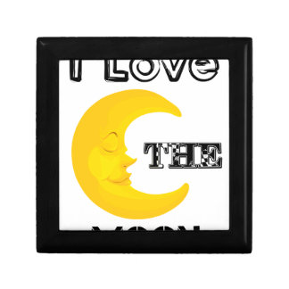 I Love The Moon Small Square Gift Box