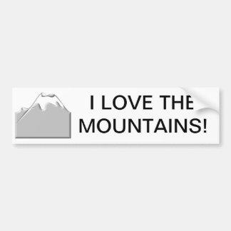 I love the mountains bumper sticker