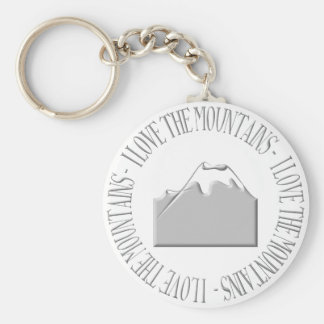 I love the mountains key ring