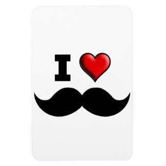 I Love the Mustache Moustache Magnets