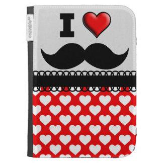 I Love the Mustache Moustache Stache Kindle Folio Case