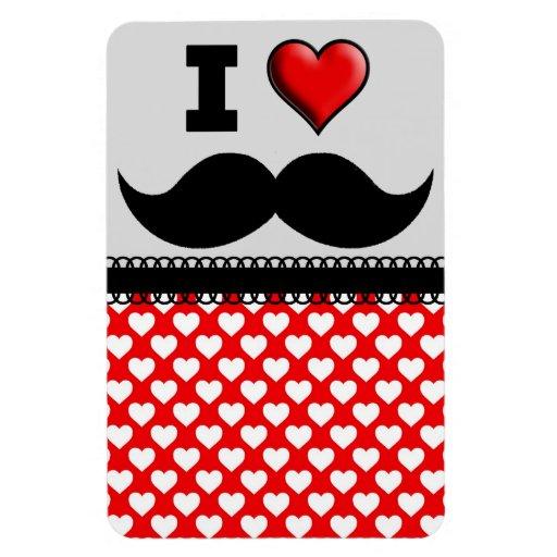 I Love the Mustache Moustache Stache Magnet