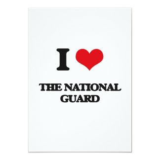 "I Love The National Guard 5"" X 7"" Invitation Card"