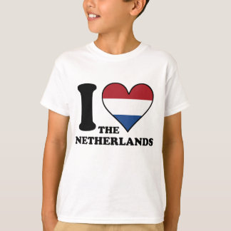 I Love the Netherlands Dutch Flag Heart T-Shirt