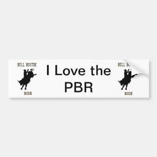"""""""I Love the PBR"""" Western Rodeo Bumper Sticker"""