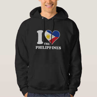 I Love the Philippines Filipino Flag Heart Hoodie