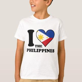 I Love the Philippines Filipino Flag Heart T-Shirt