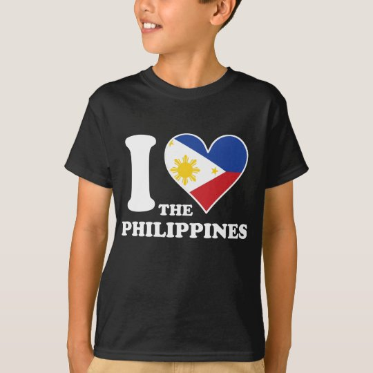 I Love the Philippines Filipino Flag Heart T-Shirt