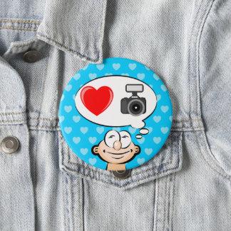 I love the photograph 10 cm round badge