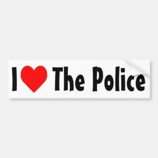 I Love The Police Bumper Sticker