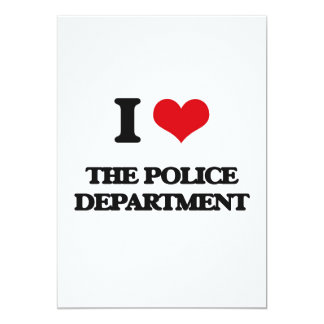 "I Love The Police Department 5"" X 7"" Invitation Card"