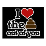 I love the poop out of you post cards