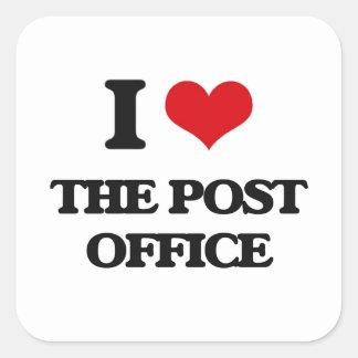 I Love The Post Office Square Sticker