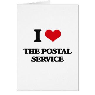 I Love The Postal Service Greeting Card