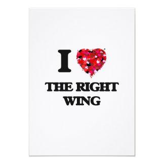 I love The Right Wing 13 Cm X 18 Cm Invitation Card