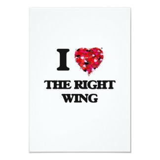 I love The Right Wing 9 Cm X 13 Cm Invitation Card
