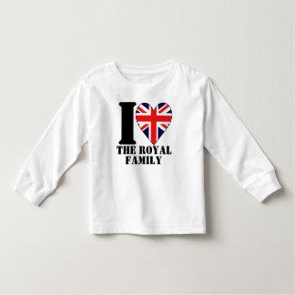 I Love the Royal Family Kids Long Sleeve Shirt